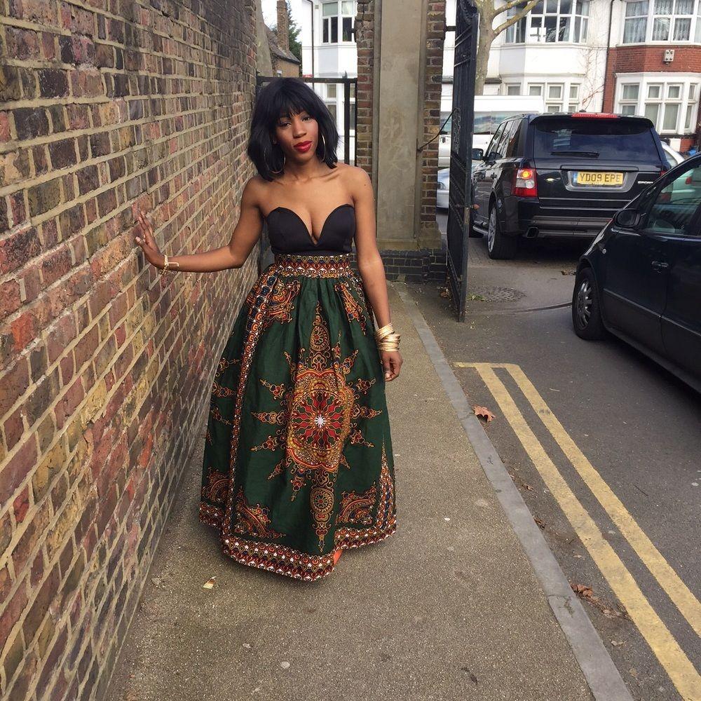 Image of new green gloria skirt ankara chitenge pinterest