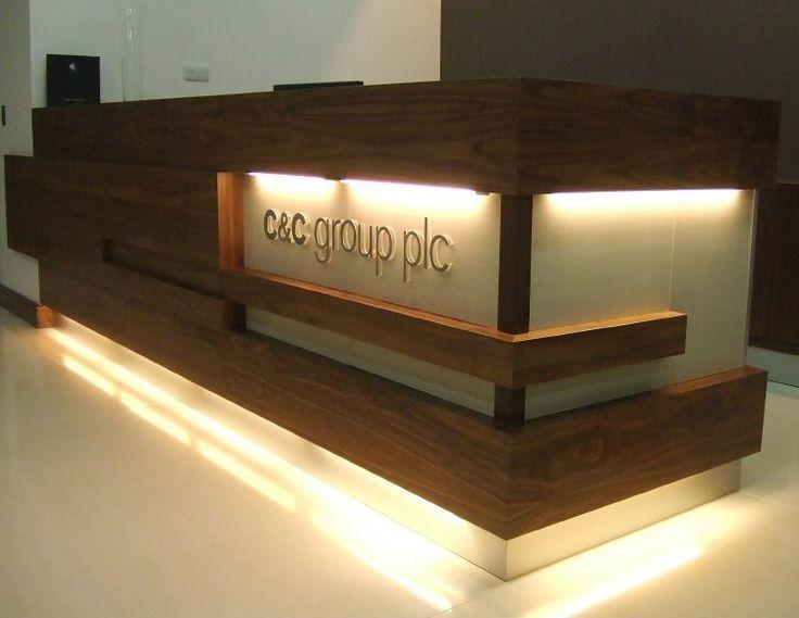 Reception desk ideas inspiring good nice way to break up height reception trend r ceptions - Desk lighting ideas ...
