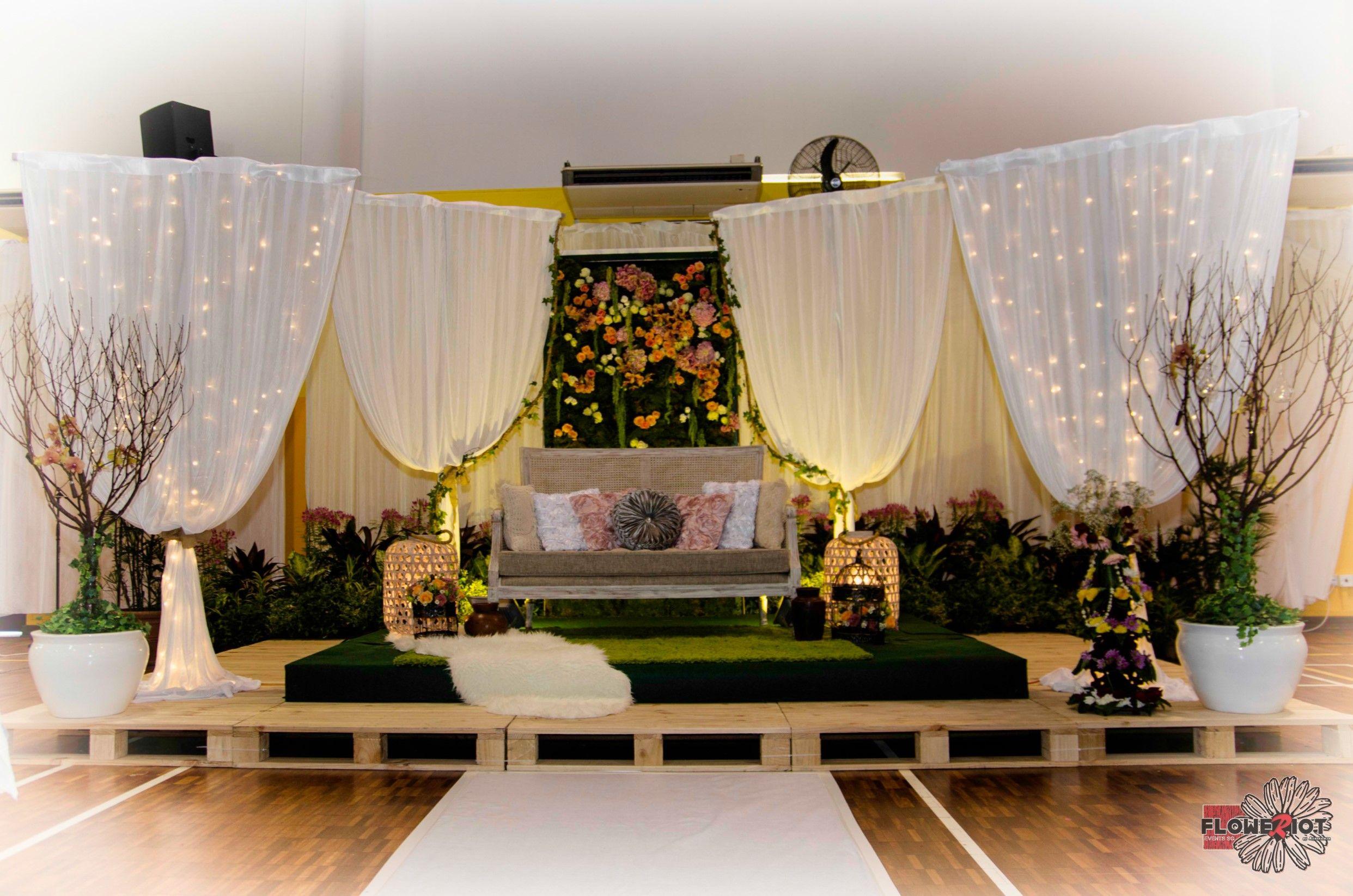 Flowerriot Events Sg Rustic Garden Wedding Flower Wall Rustic Wedding Decor