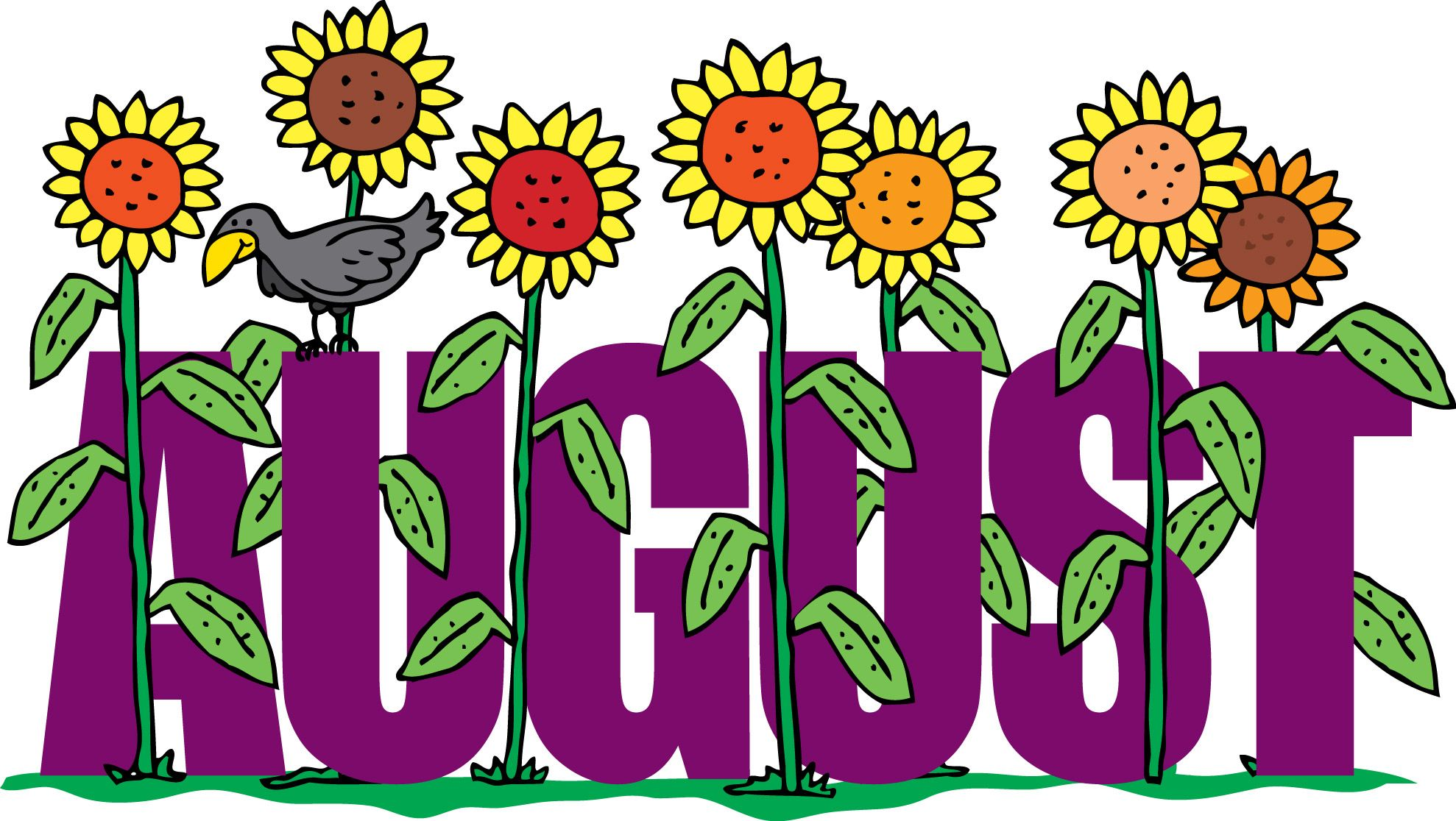 august floral clipart screen