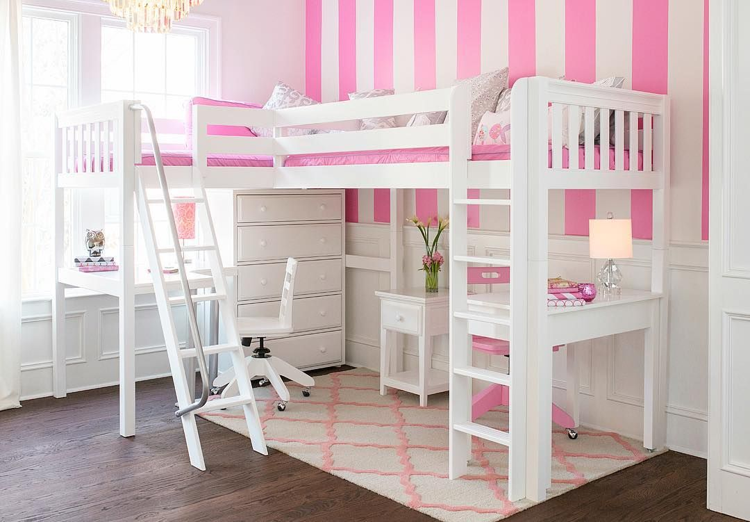 High loft bed with stairs  For their big kid bedroom Decor For Kids  Home Decor