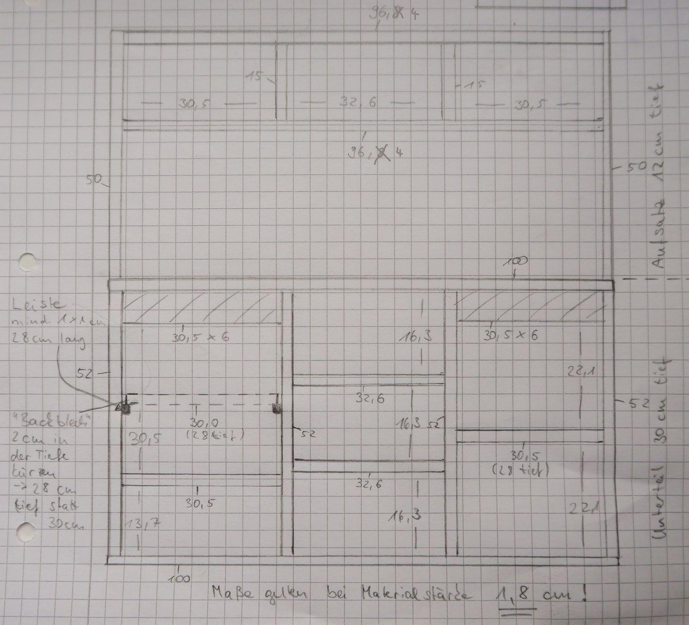 Skizze und Maße Gesamtaufbau