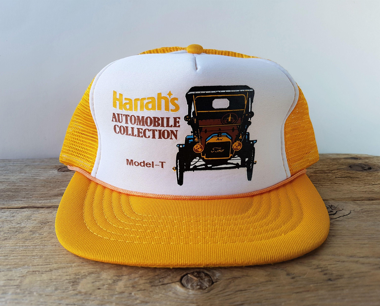 Trucker Mesh Cap//Hat Baseball Old School Vintage Classic Orange