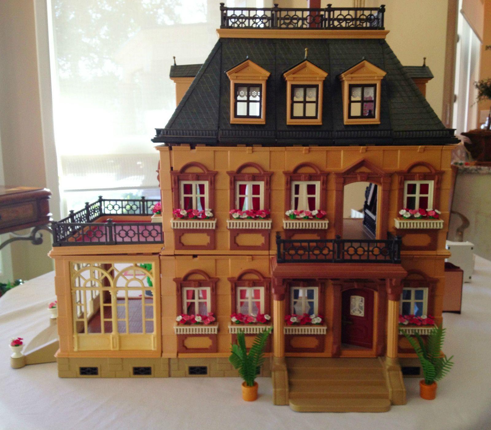 Playmobil Victorian Mansion Dollhouse 5300 W Extras Ebay
