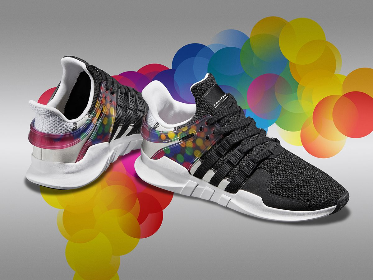 adidas is celebrating the LGBT community for June with a quartet of sneakers  to create the Pride Pack. The range uses the community's Rainbow flag for  its