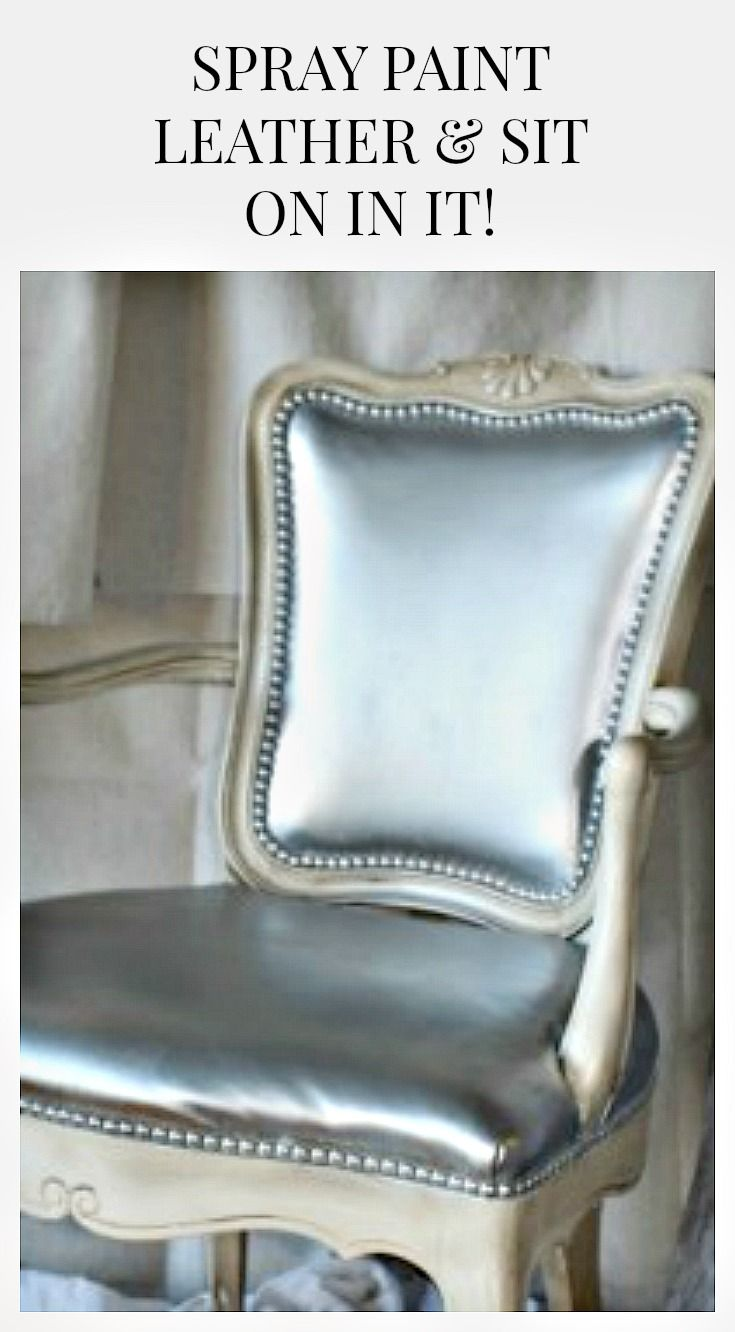 Spray Paint Leather Chair Projects Painting Leather