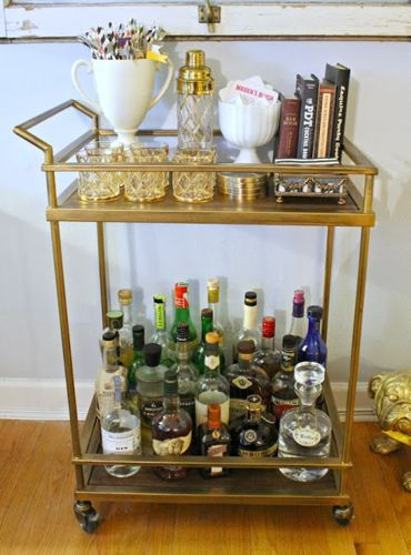 Bar Cart Decorating Ideas, Small Bar Cart Ideas, Home Bar Cart Ideas, Cheap