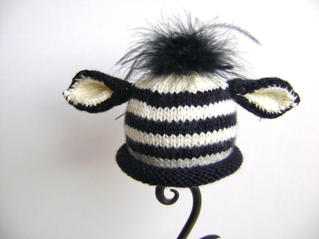 Newborn Zebra Hat | Crochet | Pinterest | Gorros y Cosas