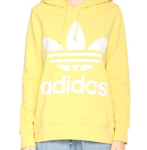 7e2b7a4c7 Moletom Fechado Adidas Originals Trefoil Hoodie Amarelo