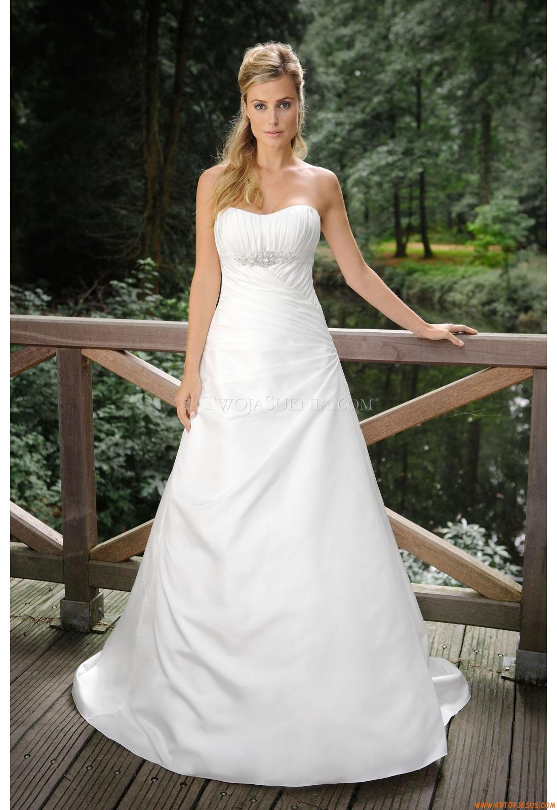 Maßgeschneiderte A-linie Günstige Brautkleider aus Taft mit ...