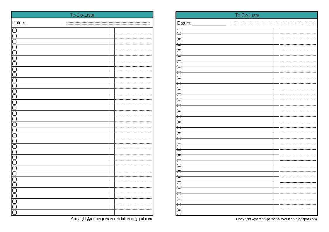 Todoliste Vorlage Druckvorlage Tagesplan kostenlos seifert pdf to ...