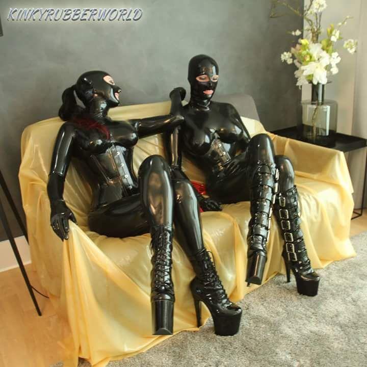 Latex lesbian fetish kinky rubber