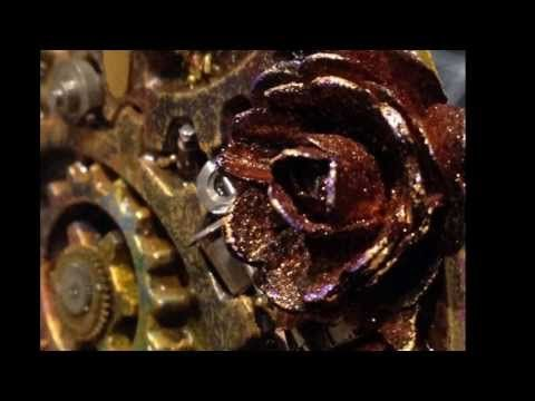 ▶ Grungy Paper Flowers for Steampunk project using Lindy's Stamp Gang Sprays - YouTube