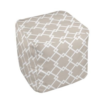 White Pouf Ottoman Geometric Pouf Ottoman Upholstery Color Flaxwhite  Http