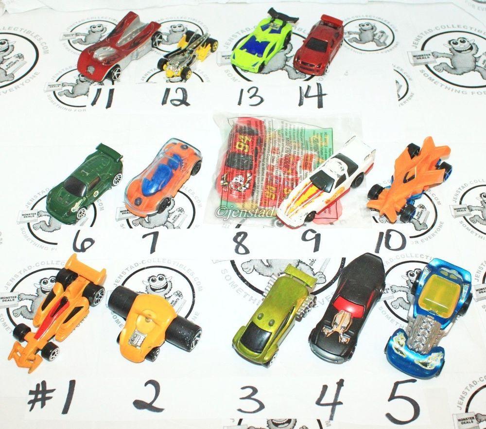 14 mix lot hot wheels mcdonald's happy meal toy car vehicles