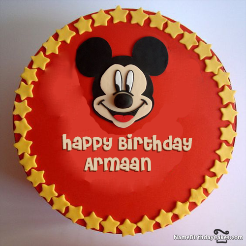 I have written armaan Name on Cakes and Wishes on this birthday wish