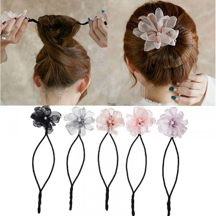 woman flower donuts twist headband price: 12.95 & free