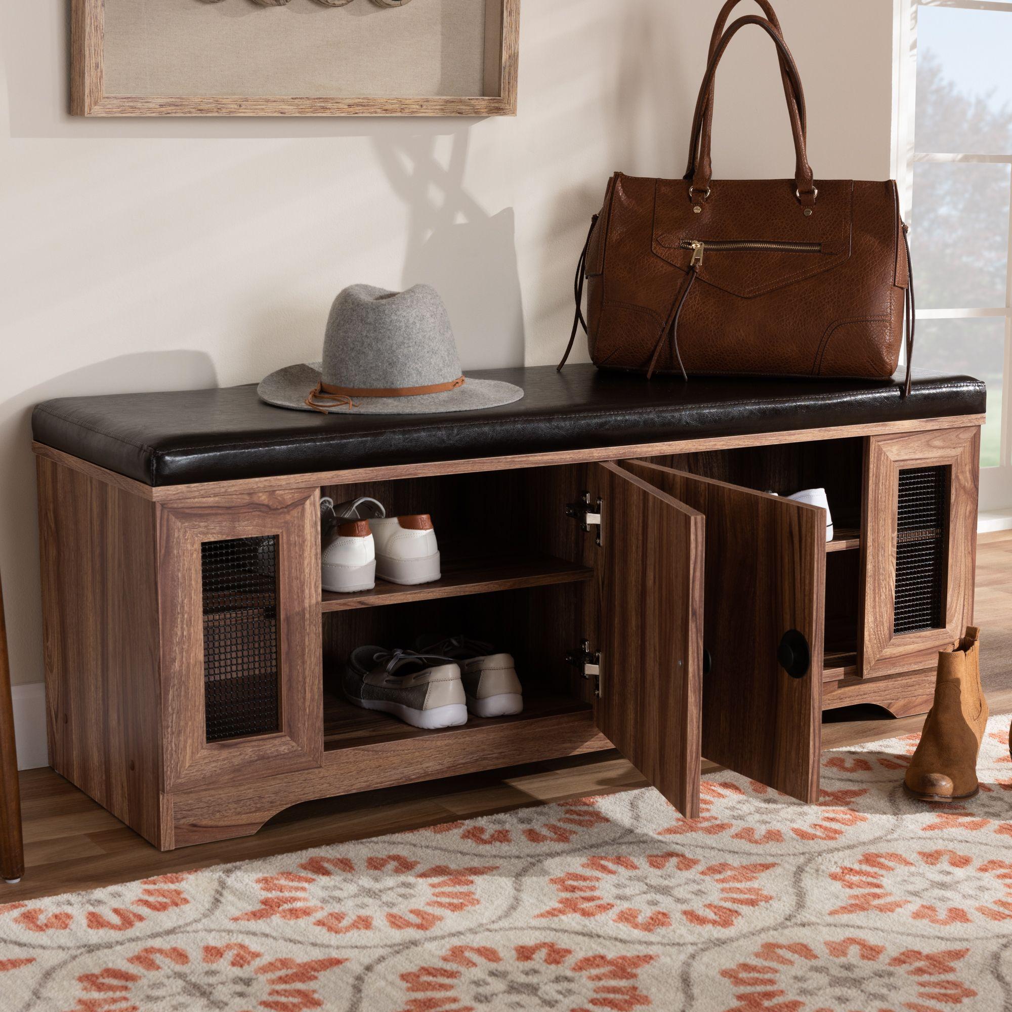 baxton studio valina modern and contemporary dark brown on shoe rack wooden with door id=86683