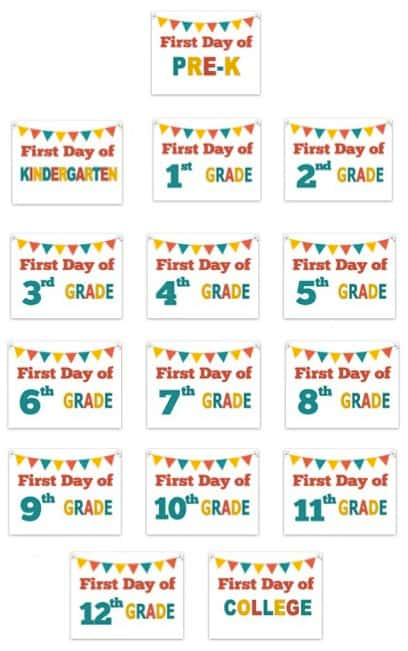 First Day of School Signs #firstdayofschoolsign