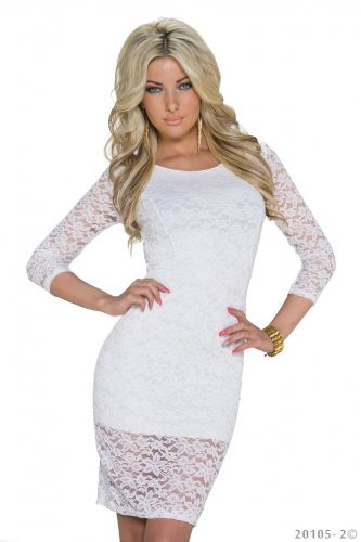 Moda Italiana Šaty Claudis white | elissfashion.sk