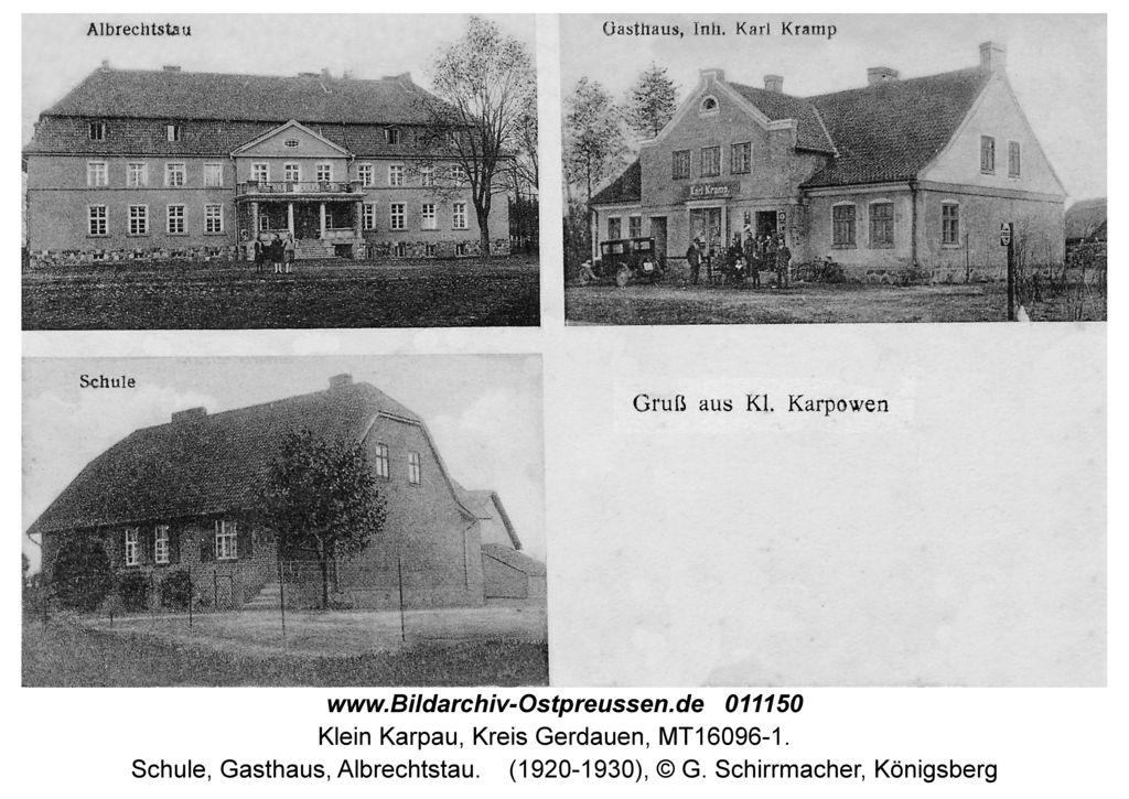 Klein Karpau, Schule, Gasthaus, Albrechtstau | Schlösser und Burgen ...