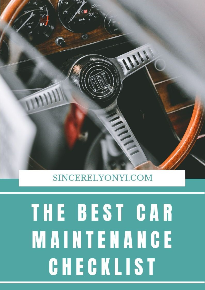 You Need This Car Maintenance Checklist Car, Used cars, Tips