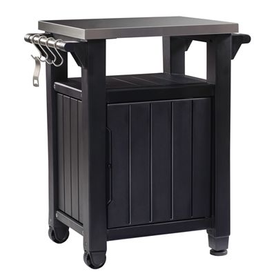 Keter Unity Bbq Grill Table Metal Grill Grill Cart Outdoor Bbq