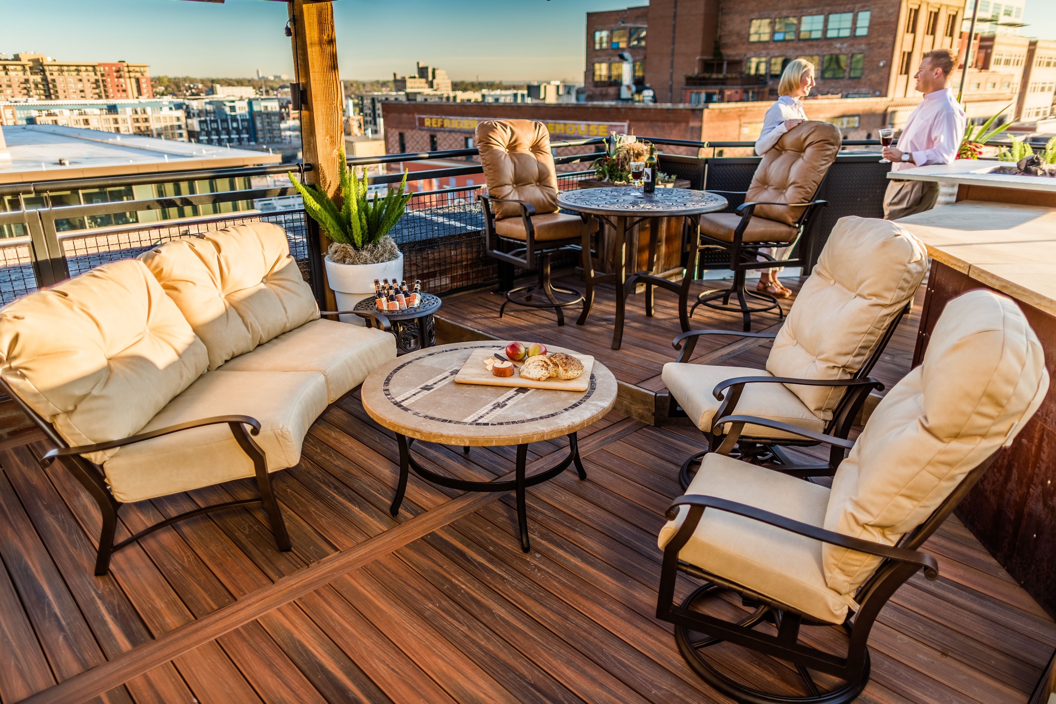 Gorgeous rooftop patio overlooking downtown Denver ...