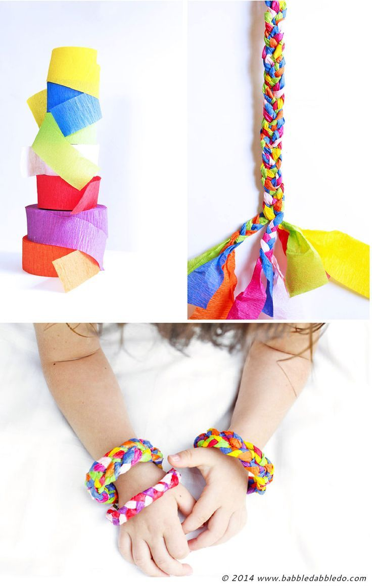 Fun Paper Craft For Kids And S Learn How To Make Bracelets Using Leftover Crepe