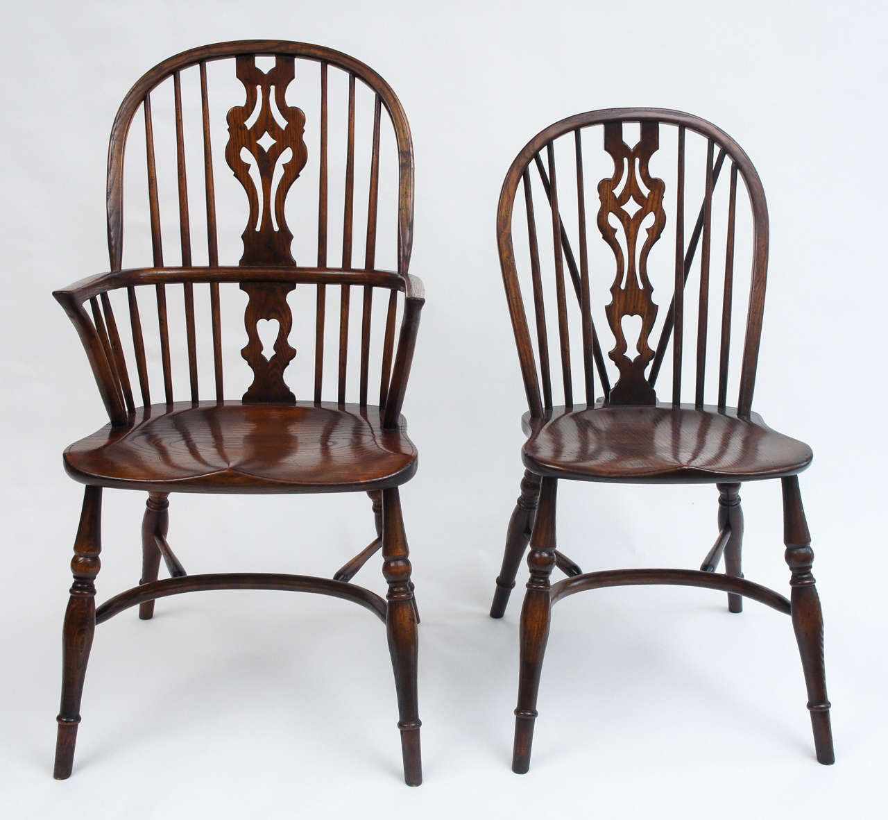 oak windsor chairs high end rocking set of ten english early 20th century upstairs two armchairs
