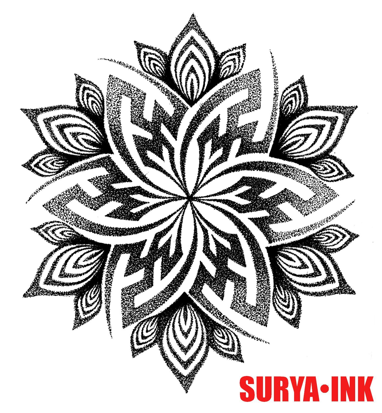 Tattoo design, swastika mandala SURYA INK   Tattoo Design ...