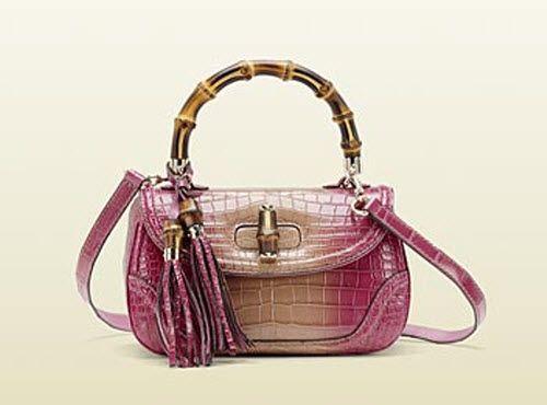 bdf3eadb975d Gucci New Bamboo Crocodile Top Handle Bag | Handbags | Bags, Gucci ...