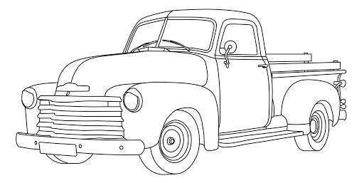 Gambar Mewarnai Mobil Pick Up Kuno Coloring Pictures Truck