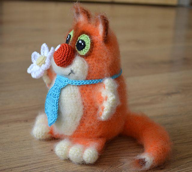 Funny Cat Amigurumi pattern by Anzelika Liusinska | Katzen