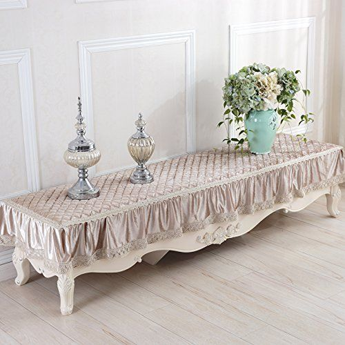 SITUMI Tablecloth Table Cover Thicker Tv Cabinet Bedside Table Non Slip  Lace Cover 40×