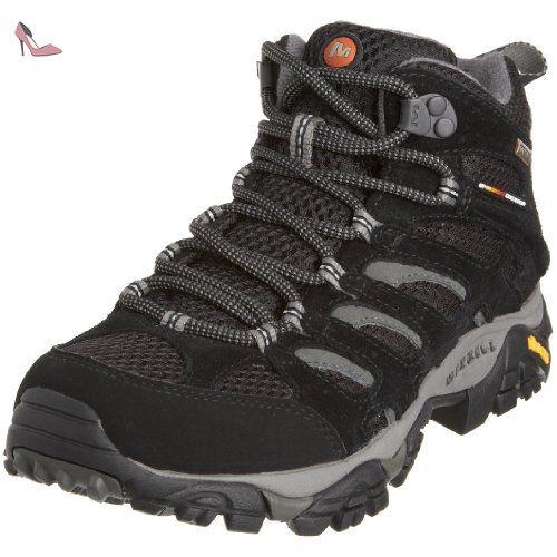 Merrell - Moab Mid GTX - Chaussure de randonnée - Tige basse - Femme -  Noir. IShoeBlack