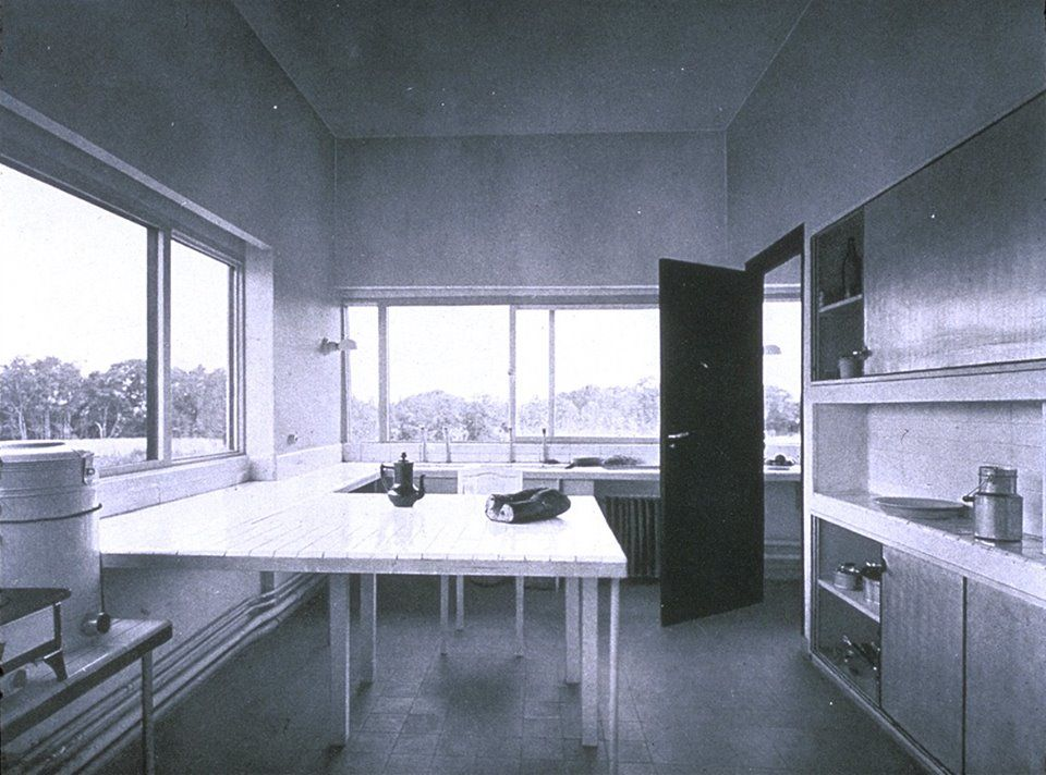 Le Corbusier... Villa Savoye, Interior Kitchen, Poissy ...Villa Savoye Kitchen