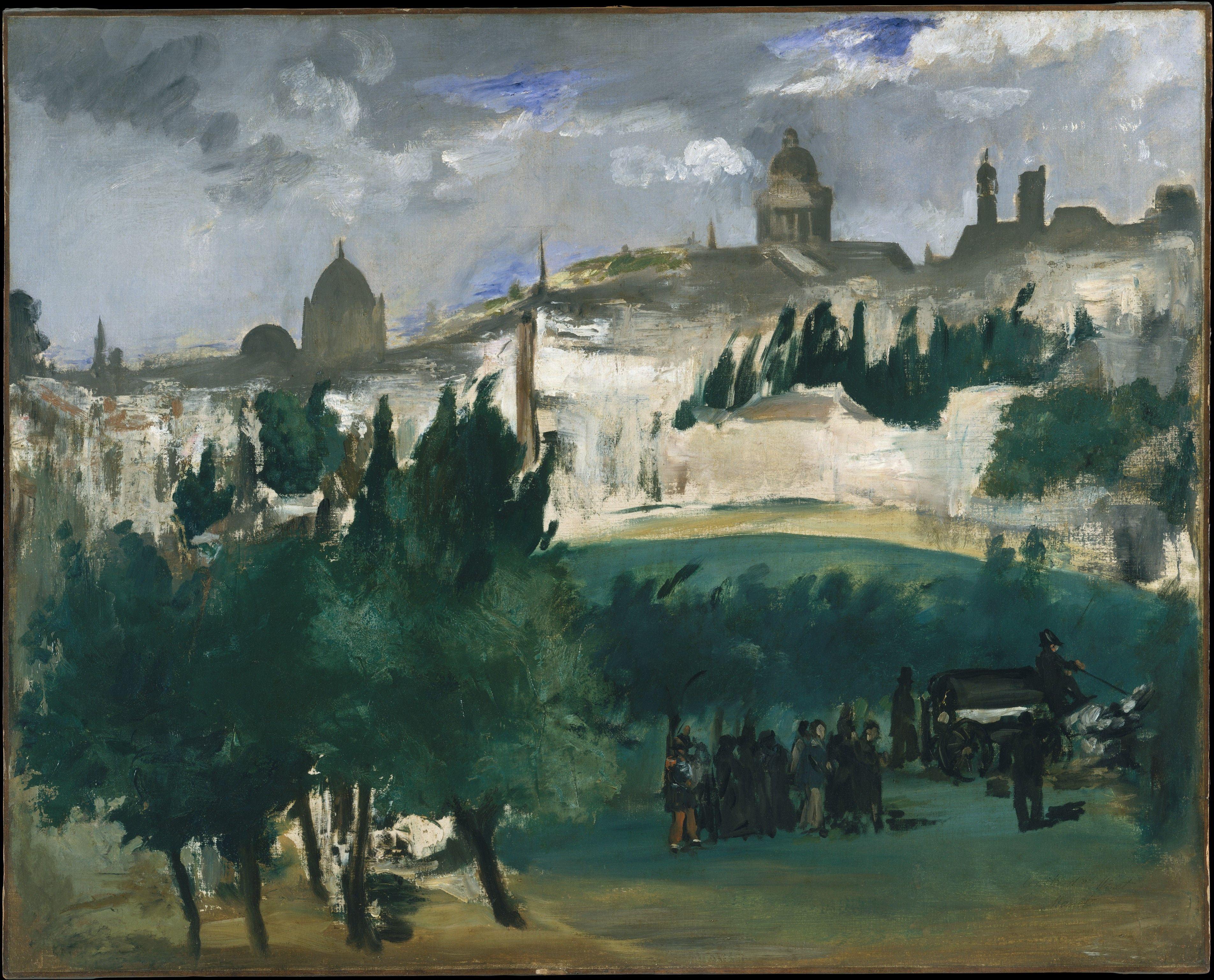 Manet S Unfinished Painting Is Thought To Depict The Funeral Of