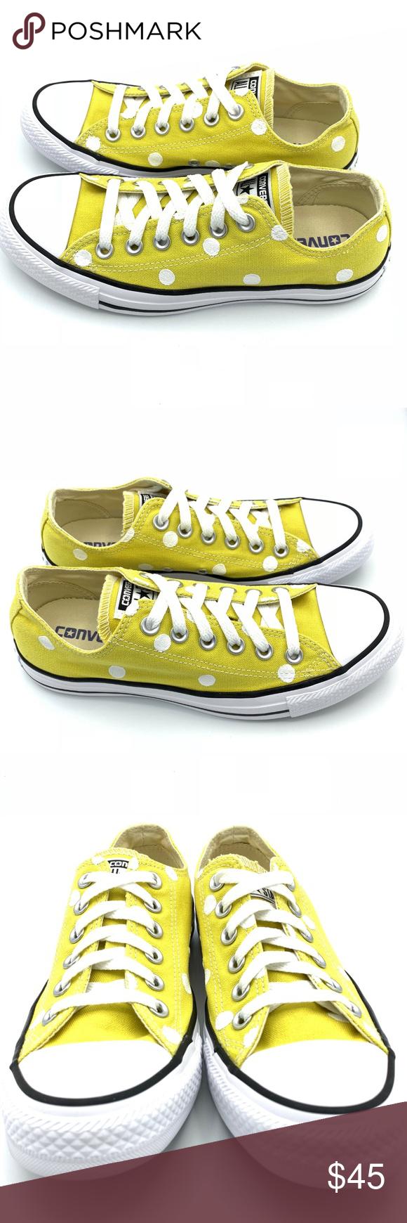 e7ea7b92e8b8 Converse 7.5 BITTER LEMON Yellow Polka Dot CTAS Hand painted unisex Converse  Chuck Taylor All-