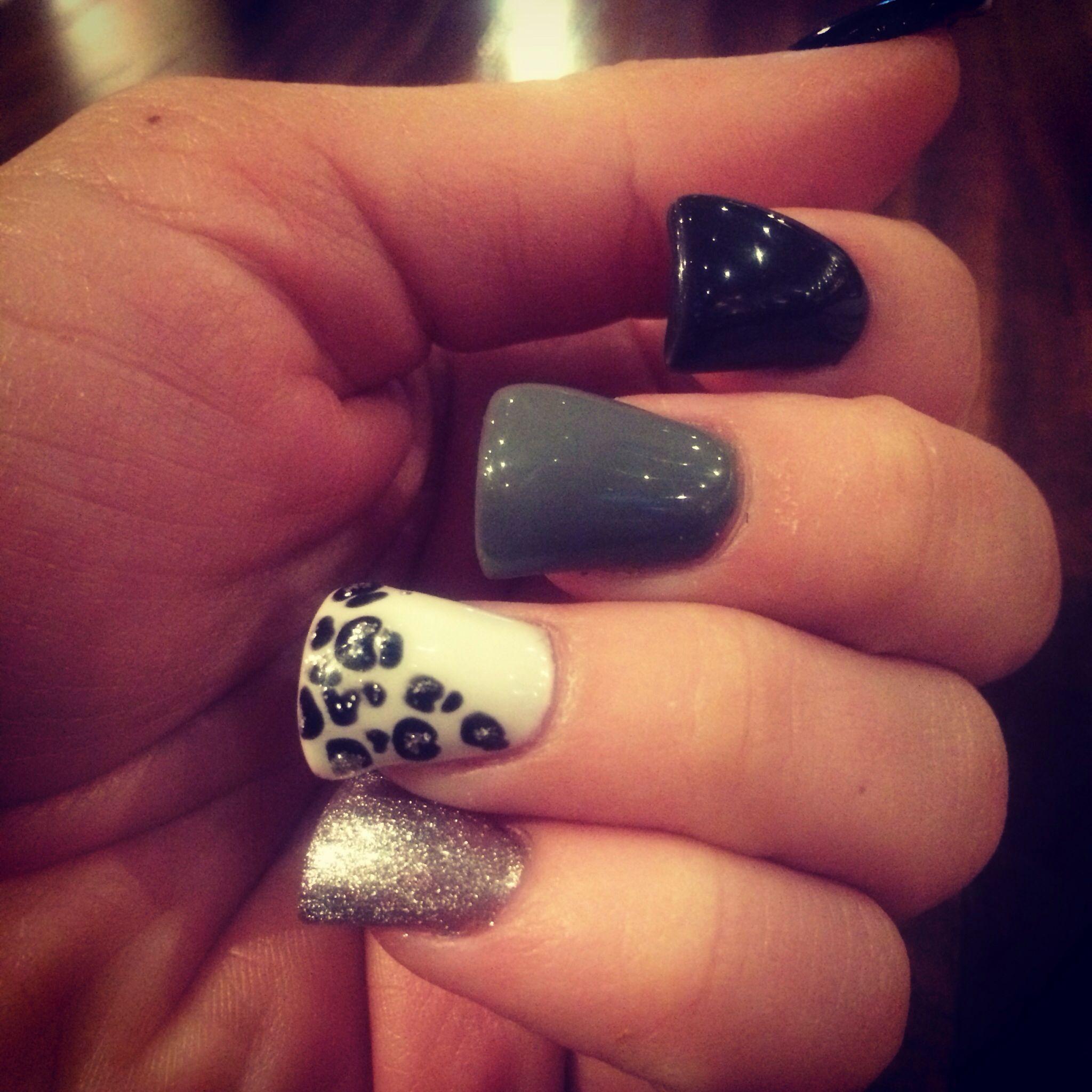 Winter Cheetah print nails - Lush Nail Bar, Raleigh NC | Hair, Nails ...