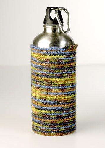 Terrarium Crocheted Water Bottle Holder That Keeps Condensation Off