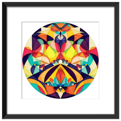 Poetry geometry art print by anai greog on artsider com get the