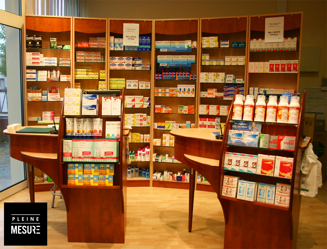 Pharmacie agencement boutique interieur decoration for Decoration interieur
