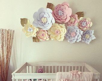 Gran decoración de arreglos florales de papel oficina #largepaperflowers
