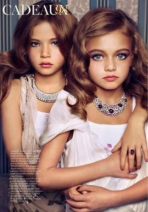 Way too young little girl models photo