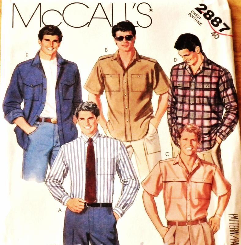 Men's Shirt Pattern 2887 New