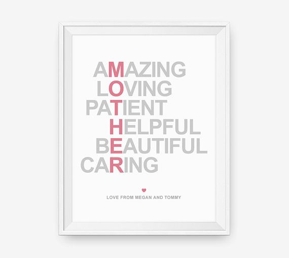 Personalized Gift for Mother Christmas Gift for mom by loopzart ...