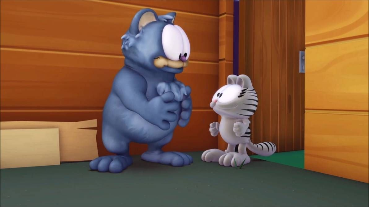 Garfield Show S1e4 Fluffykins Nermal By Https Www Deviantart Com Giuseppedirosso On Deviantart In 2020 Garfield Animated Movies Animation