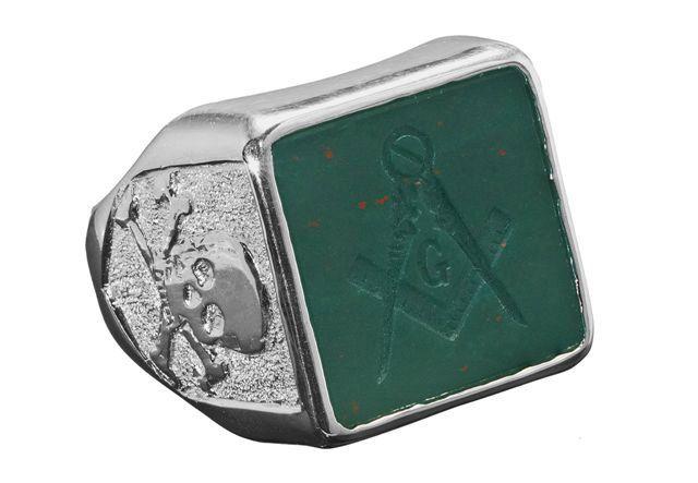 Masonic Ring Genuine Bloodstone Gemstone Regnas Brand