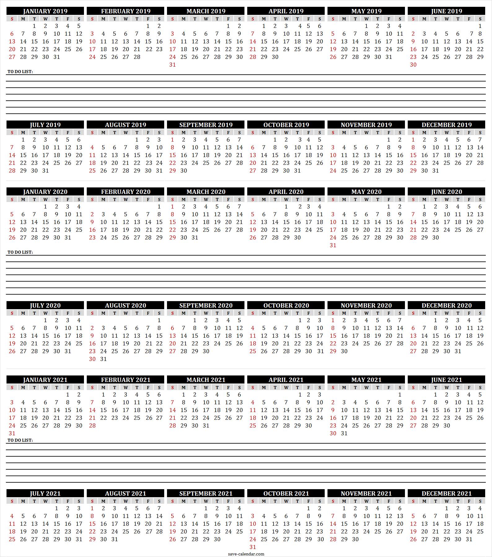 Editable 2019 2020 2021 Calendar Excel 2021 Calendar Calendar Printables Free Calendar